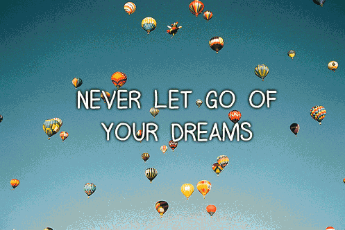 Never let go…
